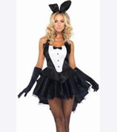 Эротичный костюм с ушками зайчика купить фото 245-506