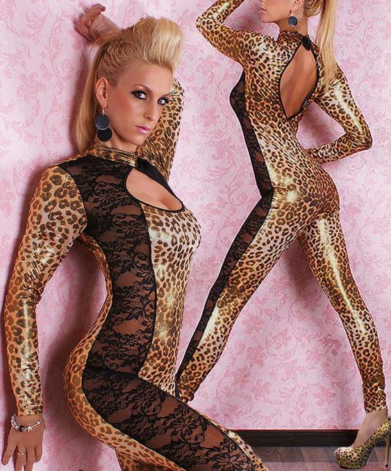 Леопардовый костюм латекс фото 279-978