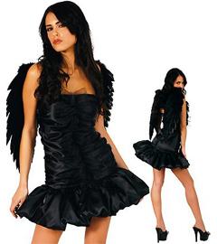 Эротический костюм черный ангел фото 426-653