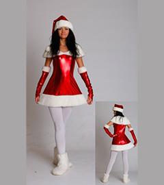Новогодние платья секси снегурочки от 400 рублей